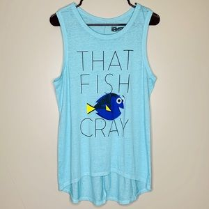 Disney Finding Dory That Fish Cray Blue Tank